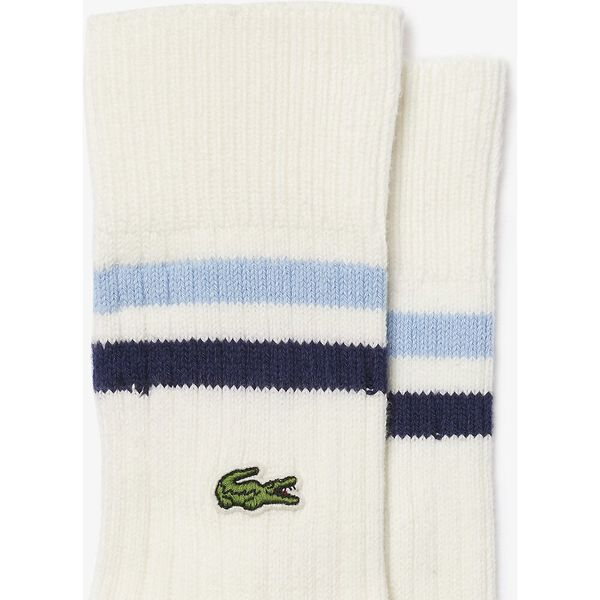 Men's Striped Ankle Stretch Cotton Socks, BLUE, hi-res