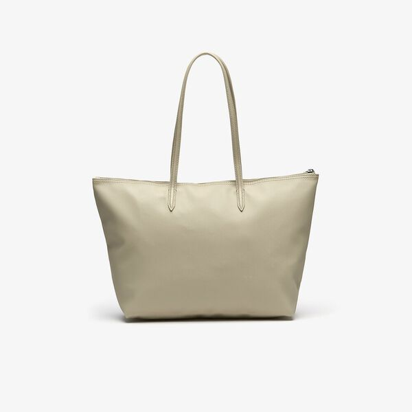 WOMEN'S L.12.12 LGE SHOPPING BAG, WHITE, hi-res