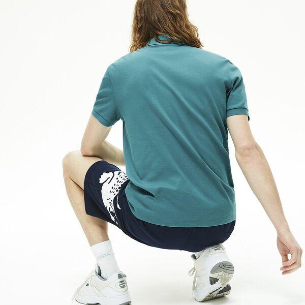 Men's Regular Fit Lightweight Cotton Polo, NIAGARA, hi-res