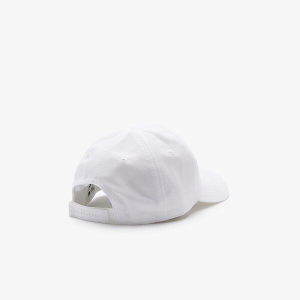 Men's Lacoste SPORT x Novak Djokovic Microfiber Cap, WHITE/WHITE, hi-res