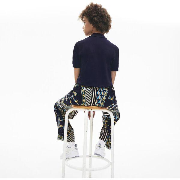 Unisex LIVE Slim Fit Stretch Cotton Piqué Polo, MARINE, hi-res