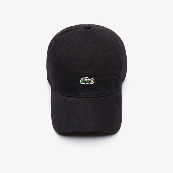 MEN'S CENTRE CROCODILE CAP, BLACK, hi-res