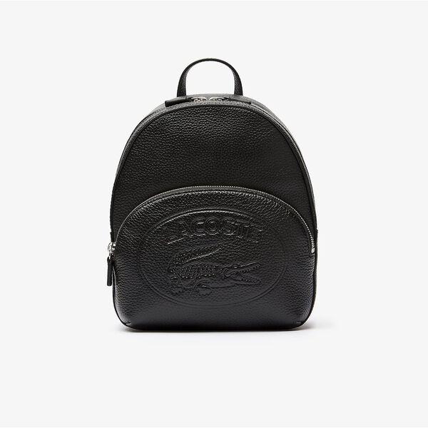 Women's Croco Crew Embossed Logo Leather Mini Backpack
