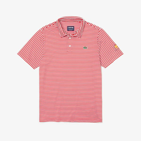 MEN'S PRESIDENTS CUP JERSEY POLO, RED/WHITE, hi-res