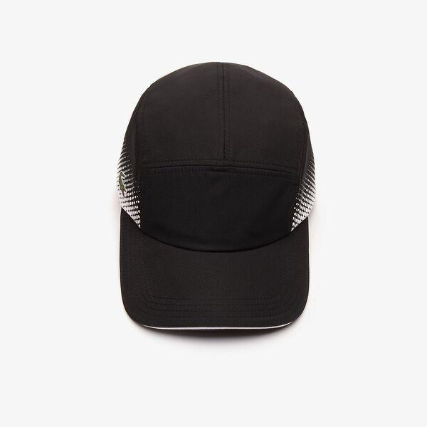MEN'S TENNIS 2 SPORT CAP, BLACK/WHITE, hi-res
