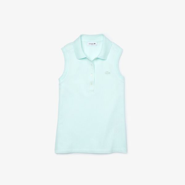 Women's Sleeveless Cotton Piqué Polo, IGLOO, hi-res
