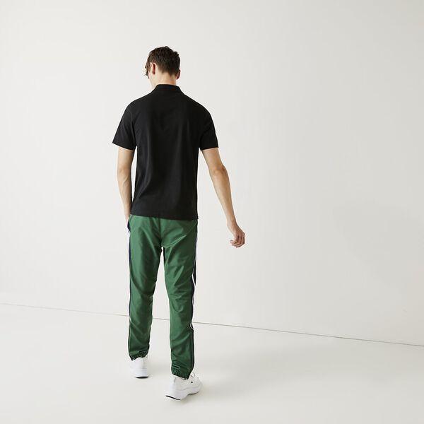 Men's SPORT Tennis regular fit Polo Shirt in ultra-lightweight knit, BLACK, hi-res