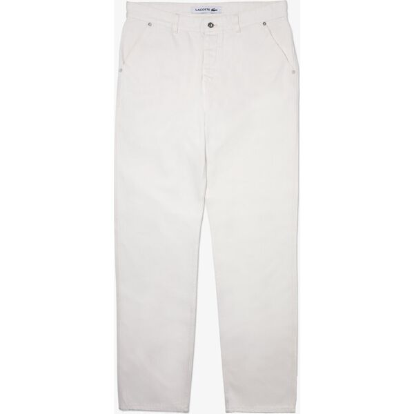 Men's Loose Cut Five-Pocket Cotton Denim Jeans, FLOUR, hi-res