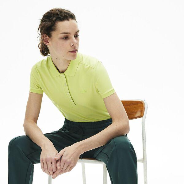 Women's Lacoste Stretch Cotton Piqué Polo Shirt, SUBAL, hi-res