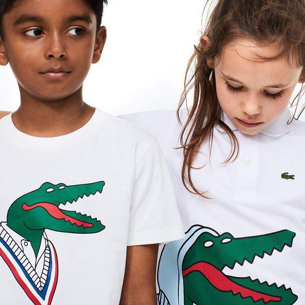 Boys' Lacoste x Jean-Michel Tixier Motif Cotton T-shirt