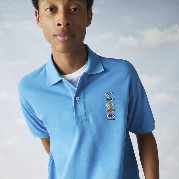 Men's Lacoste x Polaroid Colored Crocodiles Cotton Piqué Polo