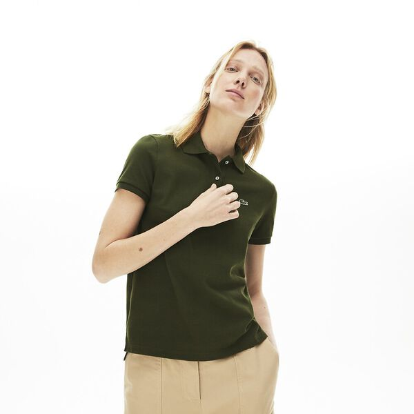 WOMEN'S 2 BUTTON RELAXED FIT POLO, CAPER BUSH, hi-res