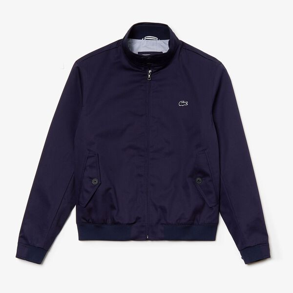 Men's Classic Twill Harrington Jacket, NAVY BLUE, hi-res