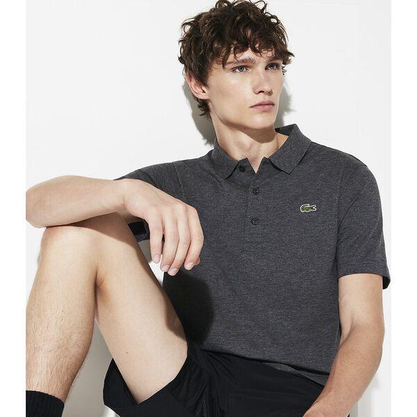 Men's SPORT Tennis regular fit Polo Shirt in ultra-lightweight knit, BITUME CHINE, hi-res
