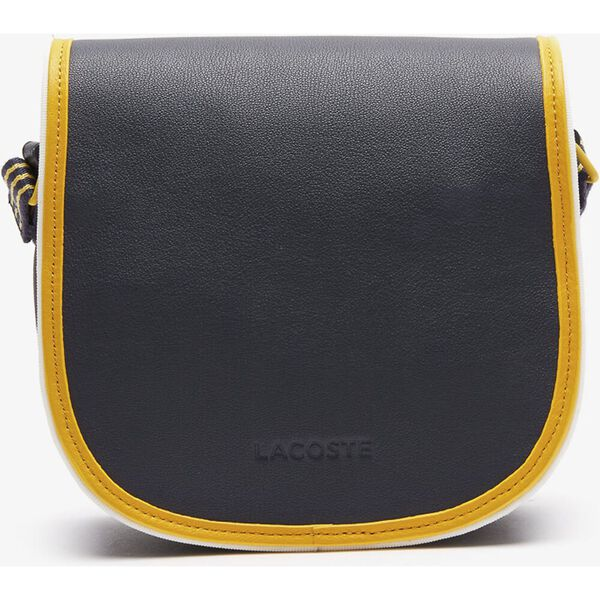 Women's Court Line Contrast Piping Small Hobo Bag, ECLIPSE GUEPE FARINE, hi-res