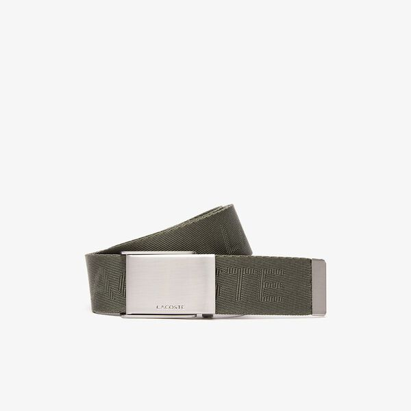 Men's Lacoste Embossed Woven Belt