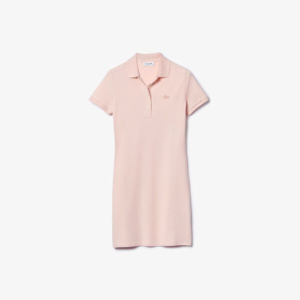 Women's Stretch Cotton Piqué Polo Dress, NIDUS, hi-res