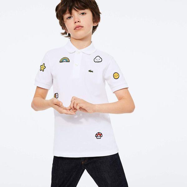 Boys' Lacoste x FriendsWithYou Design Cotton Polo Shirt