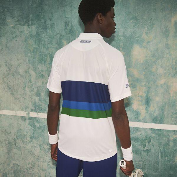 Men's SPORT x Novak Djokovic Breathable Polo, WHITE/COSMIC-UTRAMARINE-M, hi-res