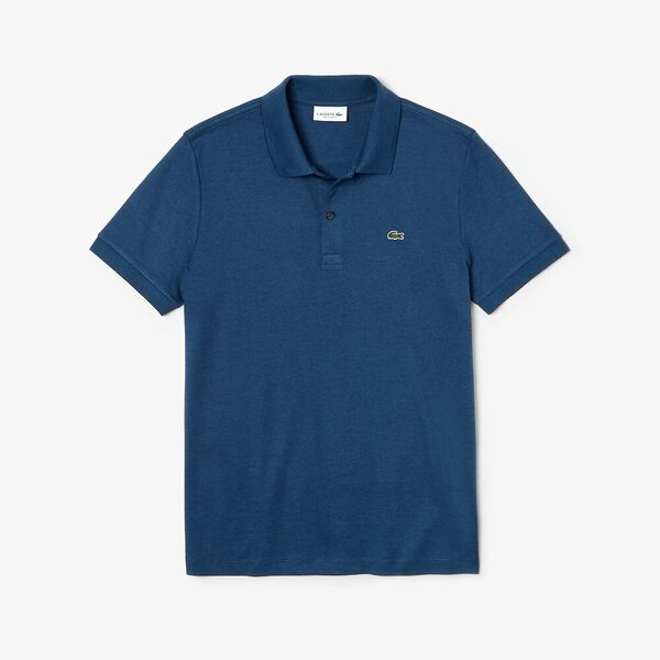 Men's Classic Stripe Interlock Polo, NAVY BLUE/ELYTRA, hi-res