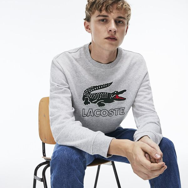 MEN'S LACOSTE CROC CREWNECK SWEAT