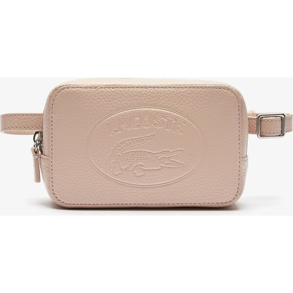 Women's Croco Crew Embossed Logo Grained Leather Belt Bag
