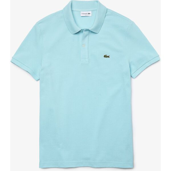 Men's Slim fit Lacoste Polo Shirt in petit piqué, POND, hi-res
