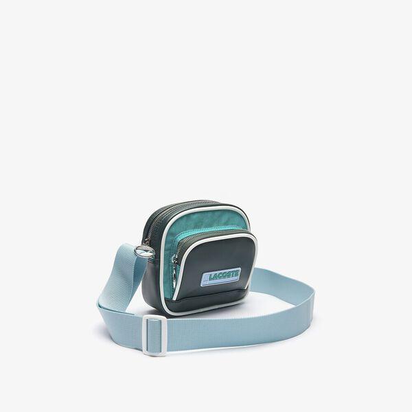 Unisex LCST Badge Colorblock Zip Shoulder Bag, SINOPLE VERDIER CANAL, hi-res
