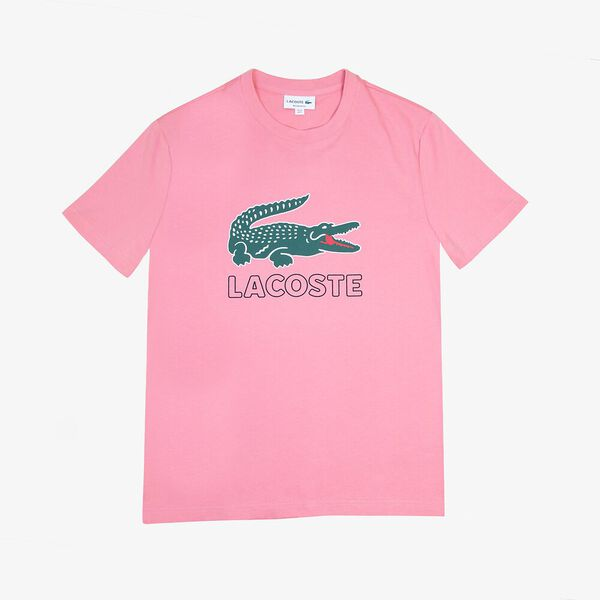 Men's Croc Tee, PINK, hi-res