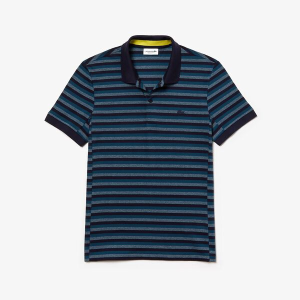 Men's Lacoste Motion Thin Reg Fit Polo, DARK NAVY BLUE/WHEELWRIGHT, hi-res