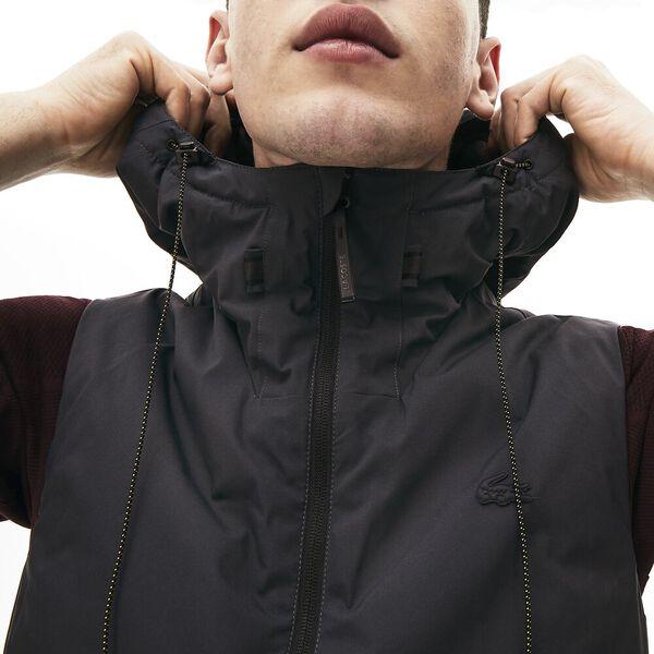 Men's Lacoste Motion Padded Nylon Jacket, GRAPHITE SOMBRE, hi-res
