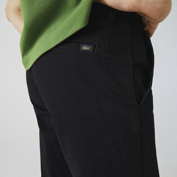 Men's Slim Stretch Chino, BLACK, hi-res