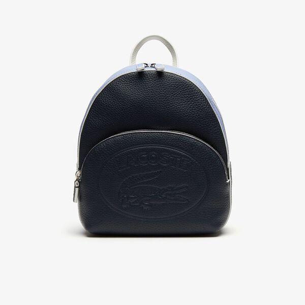 Women's Croco Crew Grained Leather Mini Backpack