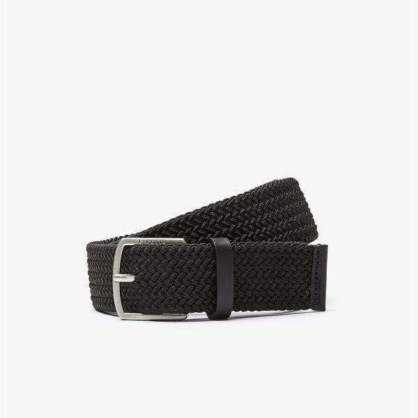 Men's Engraved Buckle Stretch Knitted Belt
