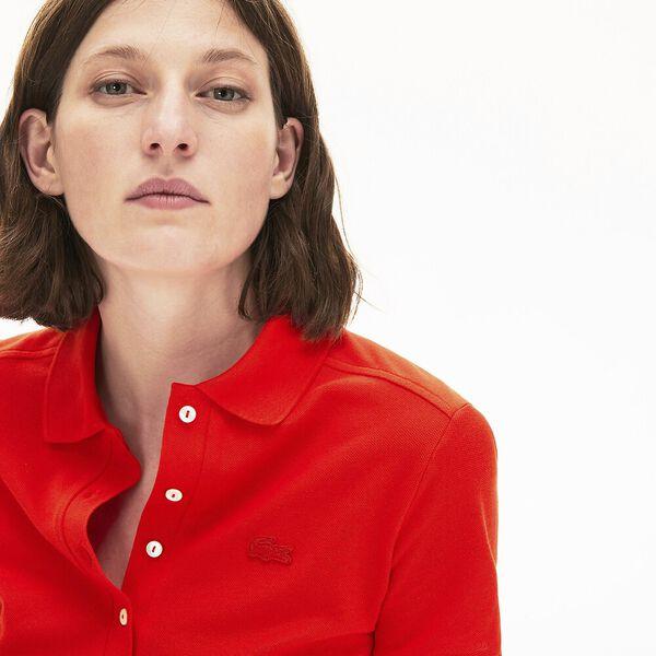 Women's Stretch Cotton Piqué Polo Shirt, CORRIDA, hi-res