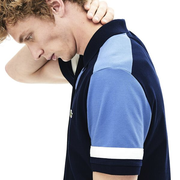 MEN'S COLOUR BLOCK SLIM FIT PIMA POLO