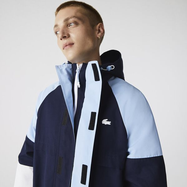Men's Heritage Water-Resistant Colorblock Jacket, NAVY BLUE/CREEK-NAVY BLUE, hi-res