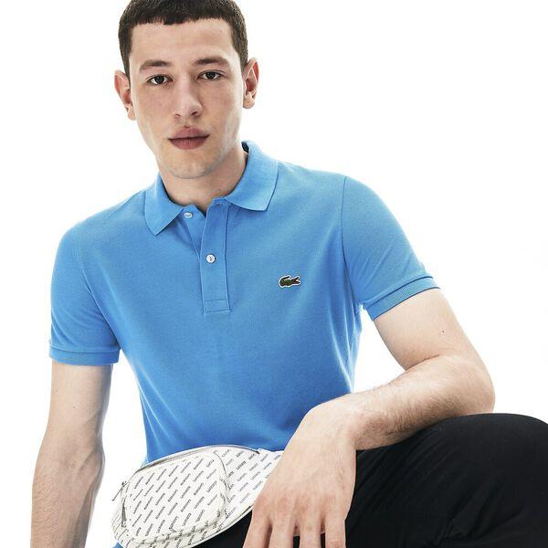 Men's Slim fit Lacoste Polo Shirt in petit piqué, IBIZA, hi-res