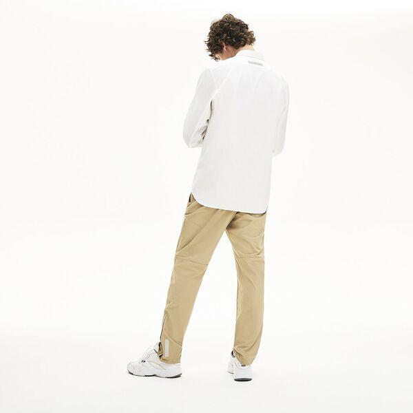 Men's Lacoste Motion Breathable Stretch Cotton Shirt, BLANC, hi-res