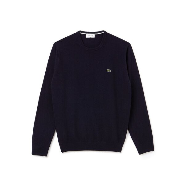 Men's Classic Crew Neck Wool Knit, NAVY BLUE/SINOPLE-FLOUR, hi-res