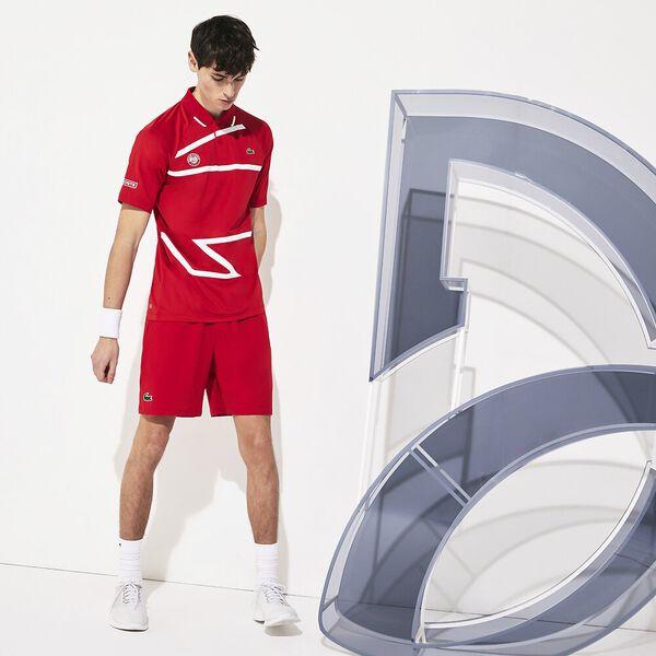 Men's Lacoste SPORT Roland Garros x Novak Djokovic Shorts, POMPIER/BLANC, hi-res