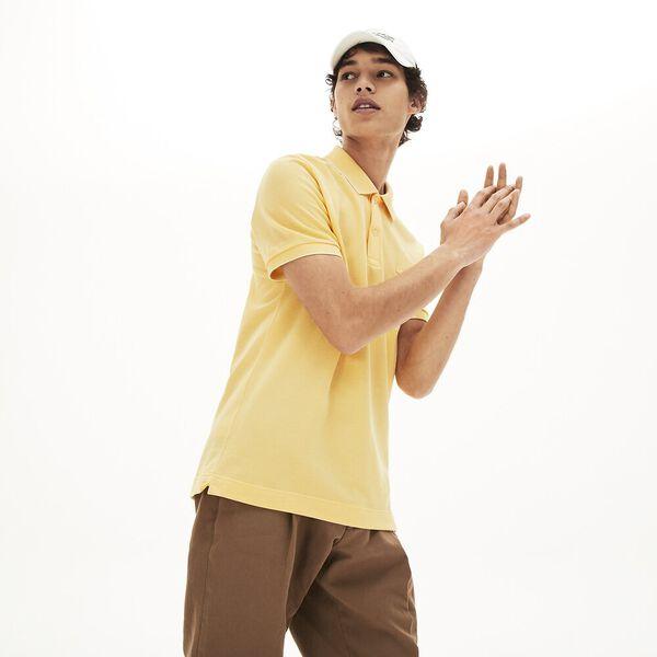 Men's Lacoste Cotton Piqué Polo Shirt, CLUSI/DABA, hi-res