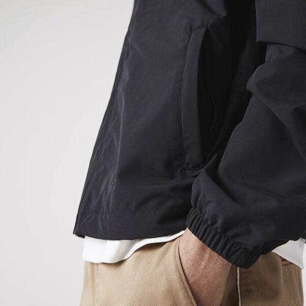 Men's Hooded Packable Ultra-Light Water-Resistant Windbreaker, BLACK, hi-res