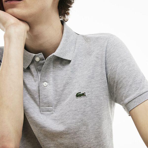 Men's Slim fit Polo, ARGENT CHINE, hi-res