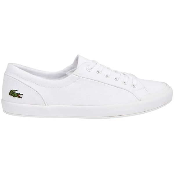 Women's Lancelle Leather Trainers, WHITE, hi-res