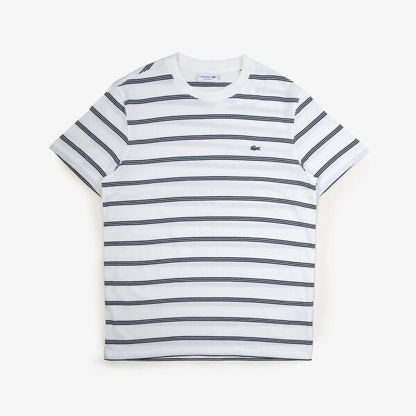 Men's Striped Ref Fit Tee, FLOUR/NAVY BLUE, hi-res
