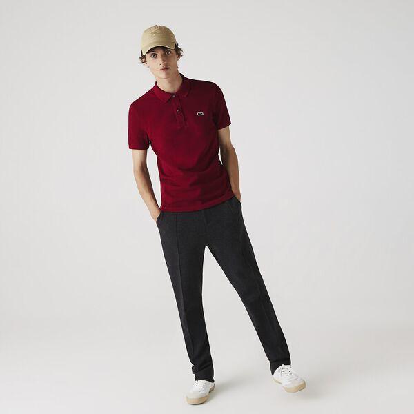 Men's Slim Fit Polo, BORDEAUX, hi-res