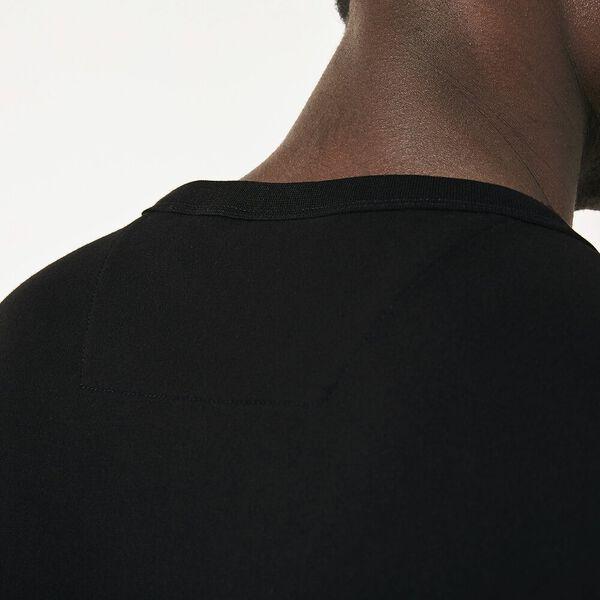 Men's SPORT Piped Cotton T-shirt, NOIR/BLANC-NOIR, hi-res