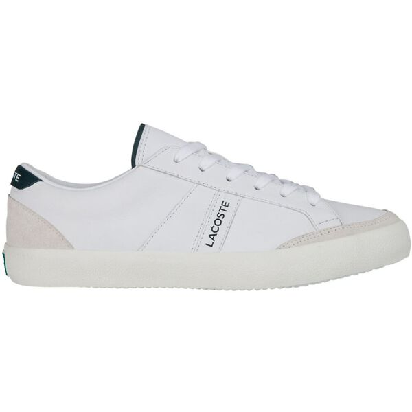 Men's Coupole Leather Sneakers, WHITE/DARK GREEN, hi-res