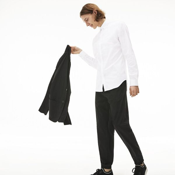 Men's Slim Stretch Solid Poplin Shirt
